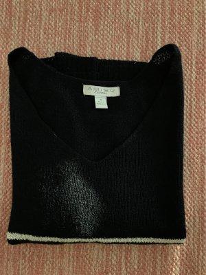 Amisu Jersey de manga corta blanco-azul oscuro