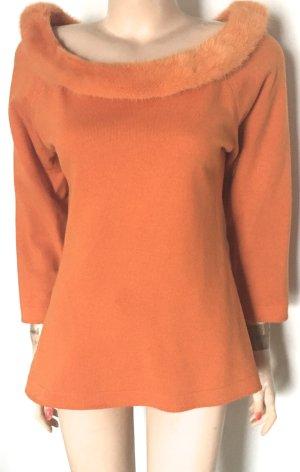 Escada Jersey de cuello redondo naranja Pelaje