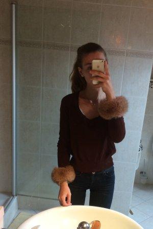 Pullover mit Echtfellbesatz