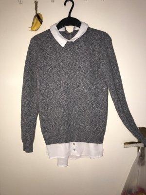 Pullover mit eingenähter Bluse