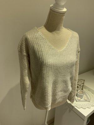 Pullover mit glänzendem Strick