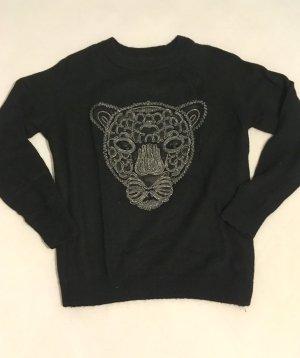 Pullover mit Glitzer-Aufdruck