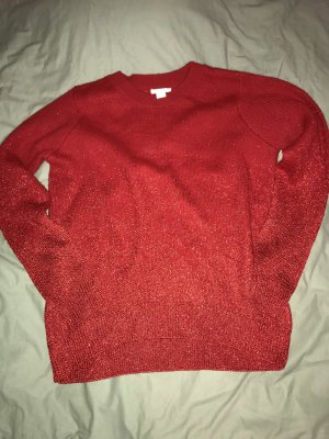 H&M Christmasjumper red-dark red