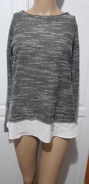 pullover mit integrierter bluse Reißverschluss
