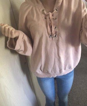 H&M Capuchon sweater roségoud