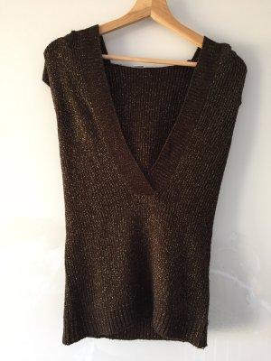 Pullover mit Kapuze Gold-Braun
