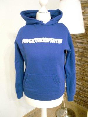 Maglione con cappuccio blu Cotone