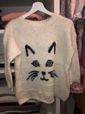 Pullover mit Katzenimitation
