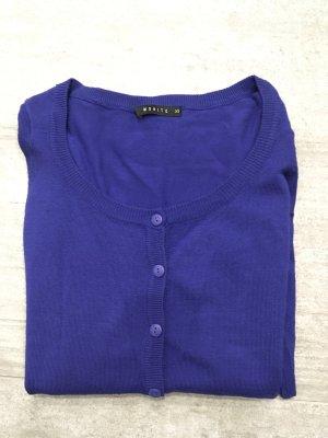 Pullover mit Knopfverschluss blau XS