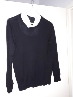 Pullover mit Kragen zum anknöpfen 42