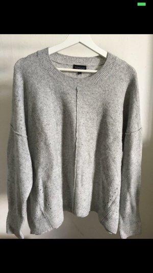 Topshop Maglione lavorato a maglia grigio chiaro