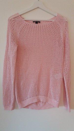 Pullover mit Lochmuster rosa