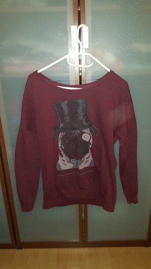 Pullover mit Mops bedruckt. Größe L