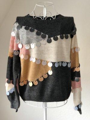 Pullover mit Motiv und Pailetten