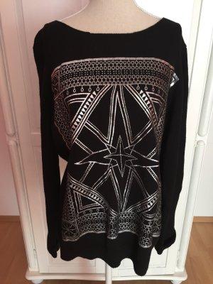 H&M Pull tricoté noir-argenté