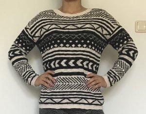 Springfield Gebreide trui wit-zwart