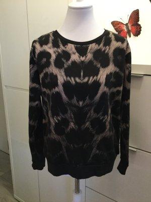 Pullover mit Muster in schwarz-puder