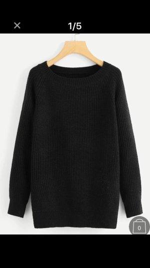 Pullover mit offenem Rücken