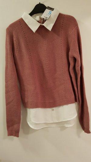 Pullover mit optischem Blusenkragen