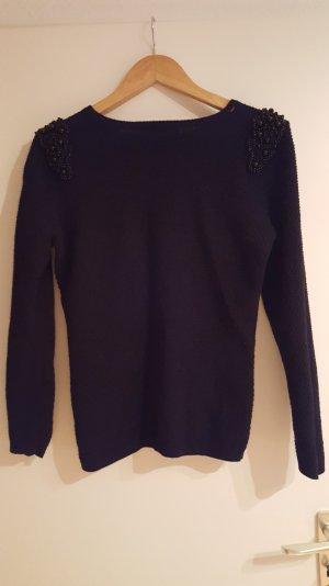 Pullover mit Pailetten von hallhuber in schwarz
