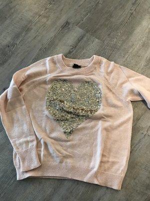 Pullover mit Pailletten Herz