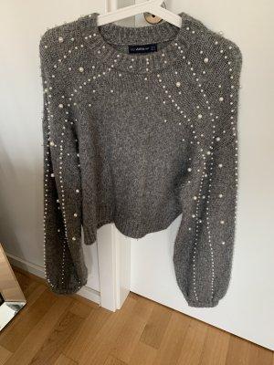 Zara Sweater grey-white