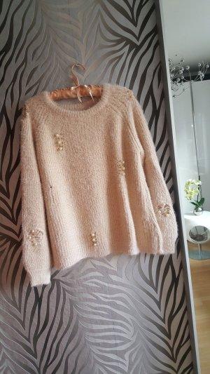 Pullover mit Perlen one size oversize
