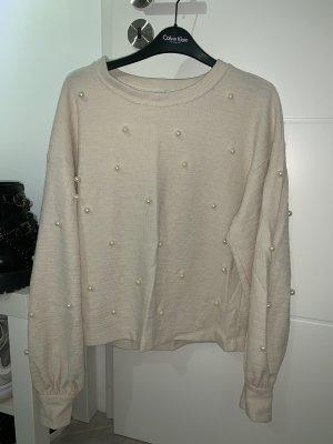 Pullover mit Perlen von Zara