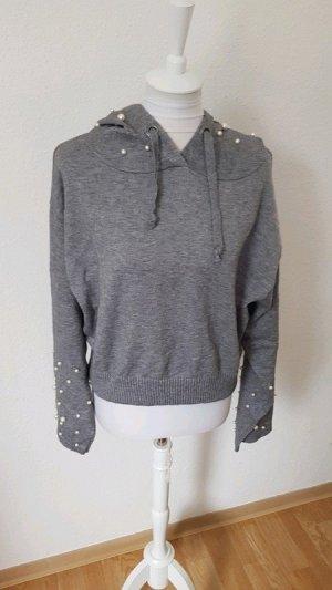 Zara Maglione con cappuccio grigio Viscosa