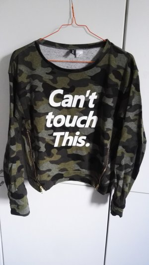 Pullover mit Print XS H&M military