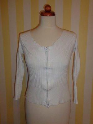 Melrose Crewneck Sweater white-natural white mixture fibre
