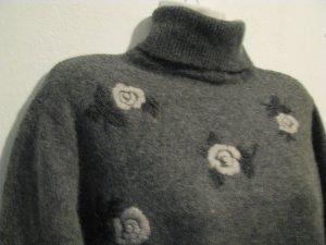 C&A Turtleneck Sweater grey-light grey wool