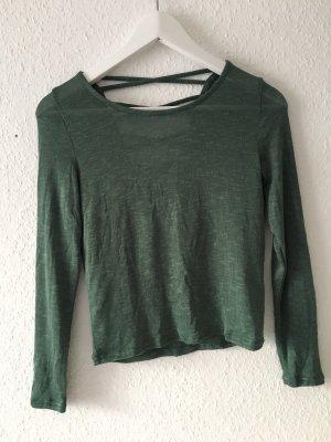 H&M Jersey de cuello redondo verde oscuro