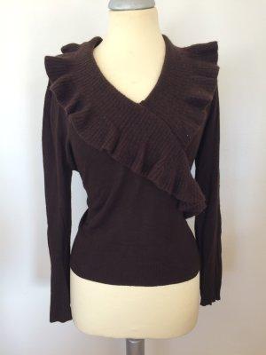 Pullover mit Rüschchenkragen