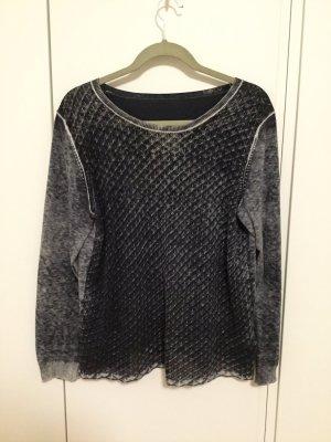 Pullover mit rundem Halsausschnitt washed look
