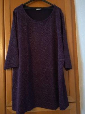 Pullover mit Rundhalsausschnitt, lila mit Lurex, Gr. 48/50