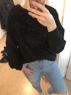 Pullover mit Samtmuster