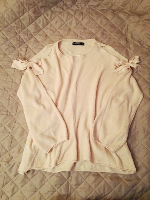 Jersey de punto rosa claro poliamida