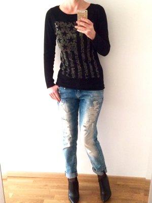 Pullover mit Schmucksteinchen von Oui