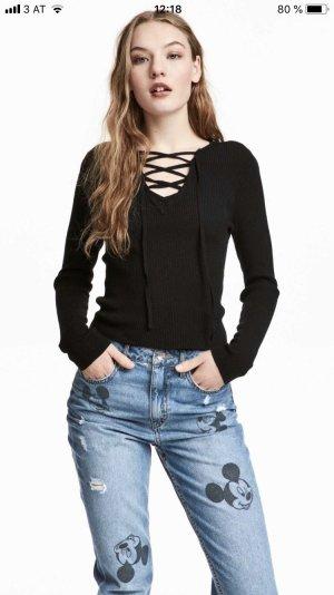 Pullover mit Schnürrung