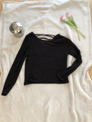 Pullover mit Schnürung schwarz h&m