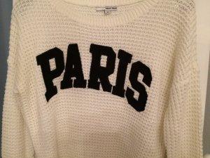 Pullover mit Schriftzug Paris