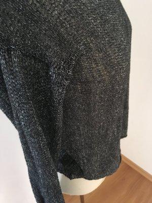 Pullover mit sexy Rückenausschnitt, grau-meliert, Strick