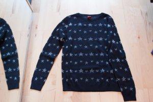 Pullover mit silbernen Sternen - 40 - NEU