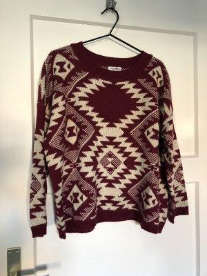 Norwegian Sweater natural white-bordeaux