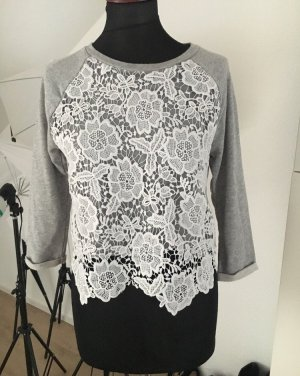 Pullover mit Spitze Cropped Blogger Instagram