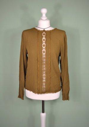 Pullover mit Spitze und Transparentem Streifen