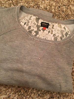 Pullover mit Spitzen-verziertem Rücken