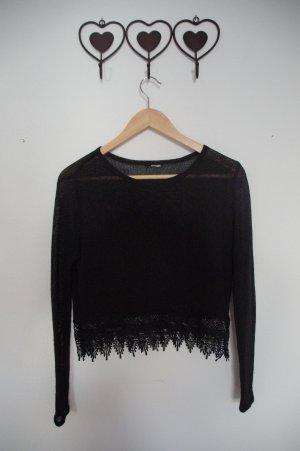 Pullover mit Spitzenabsatz