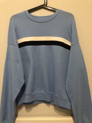 Bershka Kraagloze sweater lichtblauw